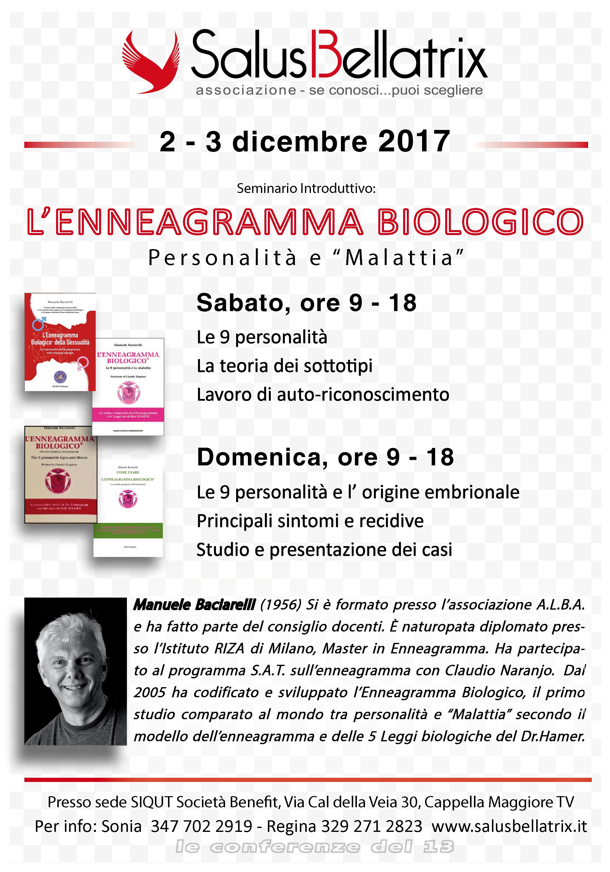 """L' ENNEAGRAMMA BIOLOGICO – Personalità e """"Malattia"""""""