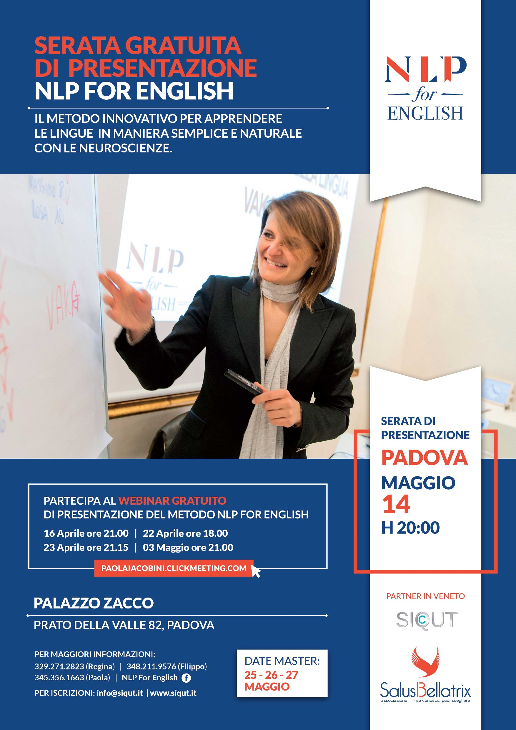 Serata di presentazione NLP for English – Padova