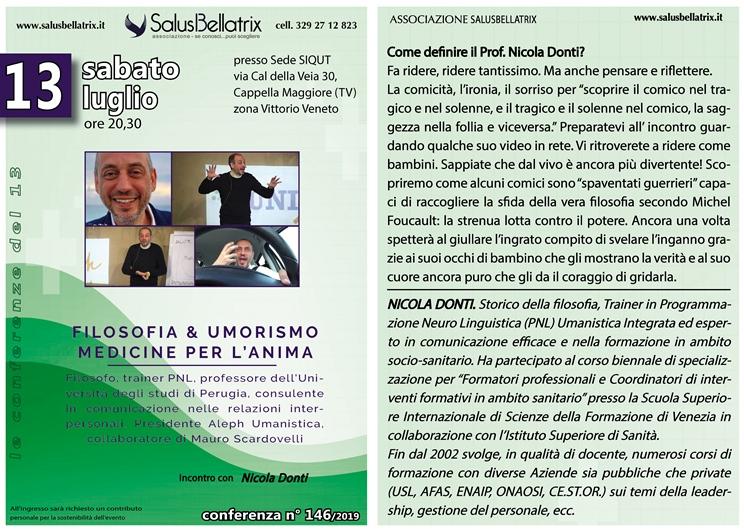 FILOSOFIA & UMORISMO MEDICINE PER L'ANIMA con Nicola Donti