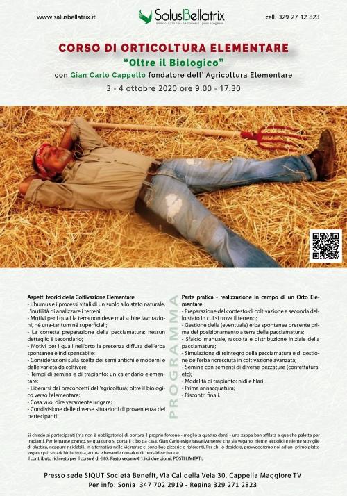 """CORSO DI ORTICOLTURA ELEMENTARE """"Oltre il Biologico"""""""